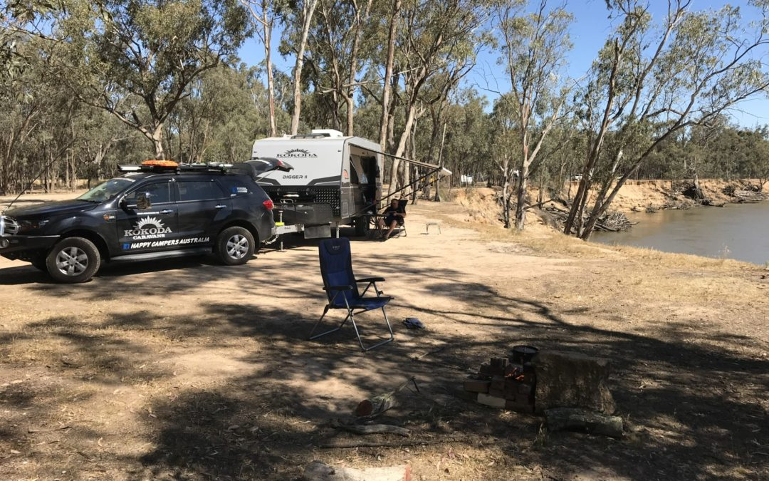 Echuca, Victoria. Free Camping on The Murray River.