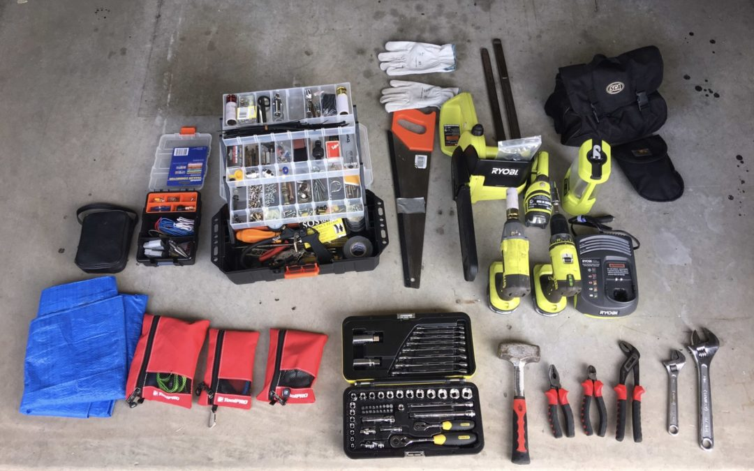 Do you wonder what tools are needed for full time travel? This is what we carry.