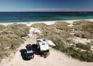 Quobba Point Blowholes Campground, WA.